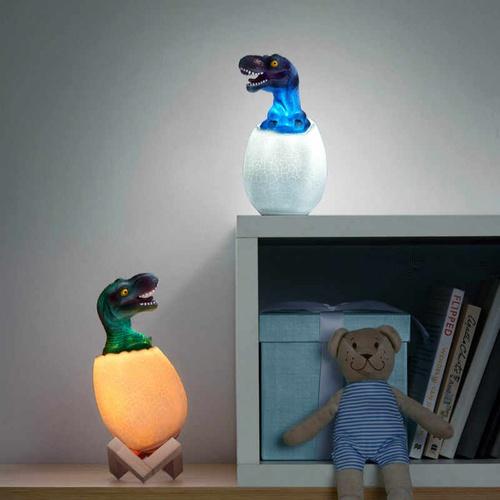 3D ночник-светильник Динозавр (16 цветов) с пультом