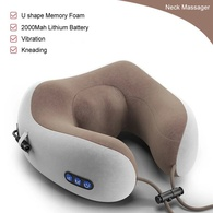 Массажная подушка U-SHAPED Massage Pillow Kneading pillow USB