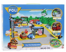 Игровой набор ROBOCAR POLI ROY FIRE HEADQUARTERS NO.XZ-155 арт.:5-3129