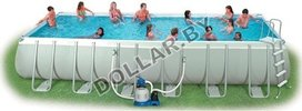 Каркасный бассейн Intex 54978 Rectangular Ultra Frame Pool 732 x 366 x 132 см